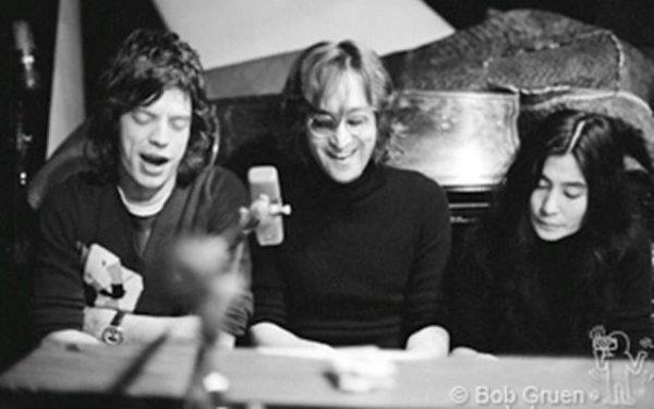#2 John Lennon, Yoko Ono & Mick Jagger Record Plant, NYC, 1972