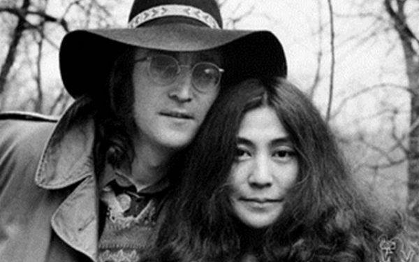 John Lennon & Yoko Ono Portrait, Central Park, NYC, 1973