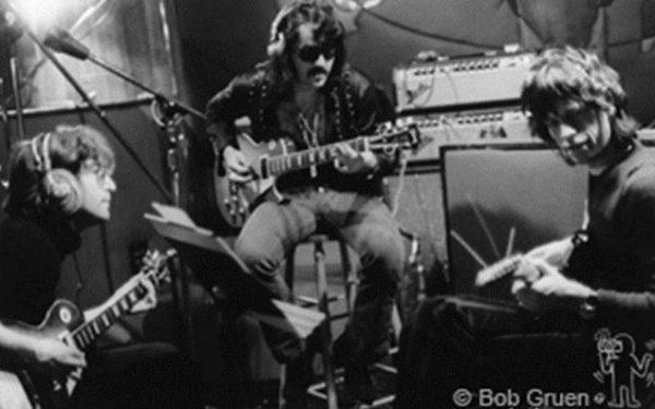 "John Lennon, Wayne ""Tex"" Gabriel & Mick Jagger Record Plant, NYC, 1972"