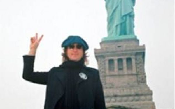 John Lennon Portrait, Statue Of Liberty, NYC, 1974