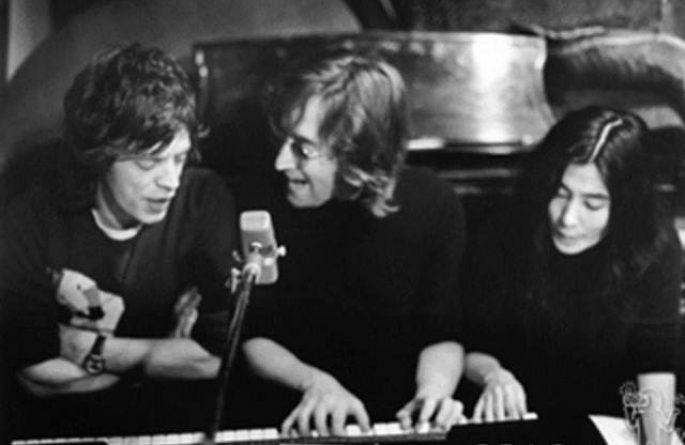 #1 John Lennon, Yoko Ono & Mick Jagger Record Plant, NYC, 1972