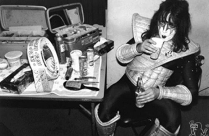 Ace Frehley Backstage, Budokan, Tokyo, Japan, 1978