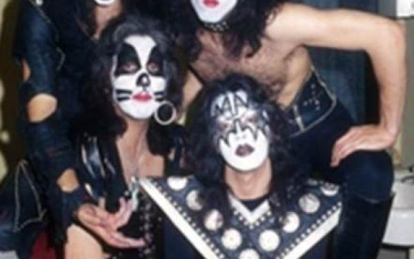 Kiss Backstage Group Shot, Beacon Theatre, NYC, 1975