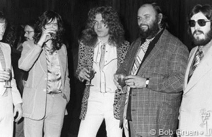 Led Zeppelin & Peter Grant Swan Song Label Party, NYC, 1974