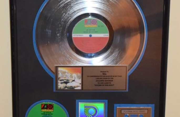 Led Zeppelin RIAA Award For Houses Of The Holy