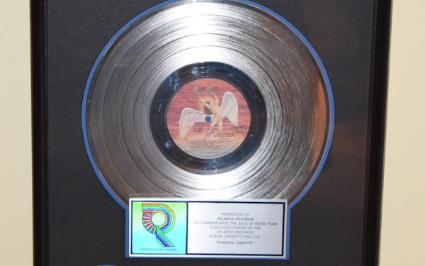 Led Zeppelin RIAA Award for Physical Graffiti