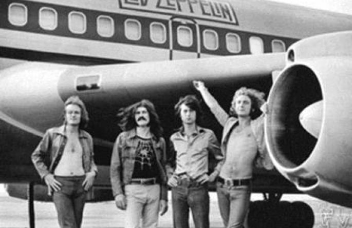 Led Zeppelin Group Shot, NY, 1973
