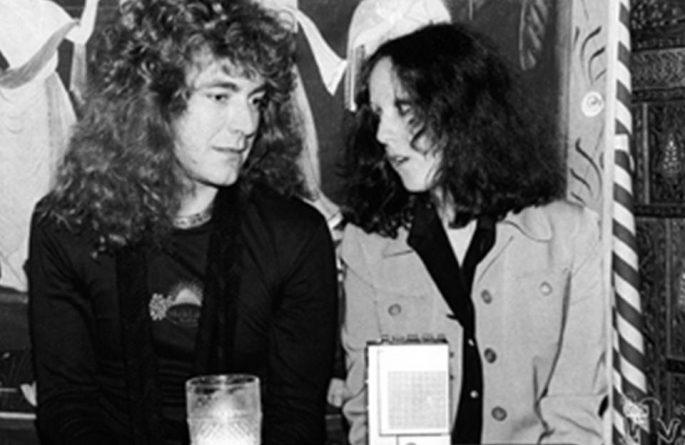 Robert Plant & Lisa Robinson Nirvana Restaurant, NYC, 1976