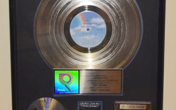 Lynyrd Skynyrd RIAA Award For Street Survivors