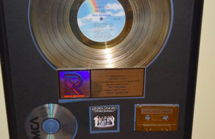 Lynyrd Skynyrd RIAA Award For Street Survivors