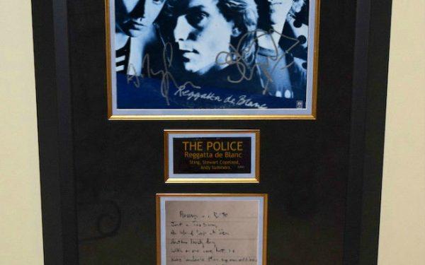 Signed Sheet Music and Lyrics, Custom Designed Framing,ROCK