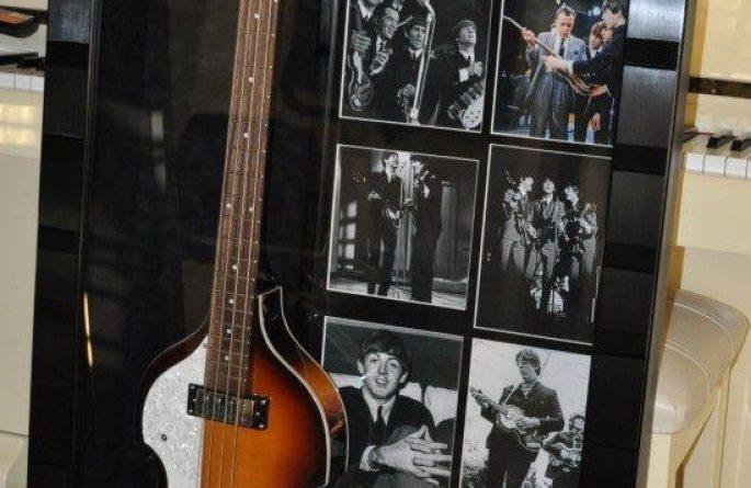 Paul McCartney Signed Guitar Display