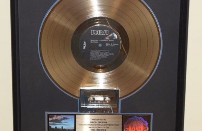 Mr. Mister RIAA Award For Welcome To The Real World