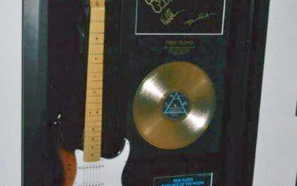 #2 Pink Floyd Signed Guitar Display