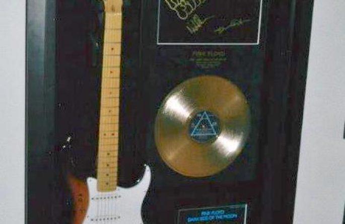 #2 Pink Floyd Signed Guitar Display