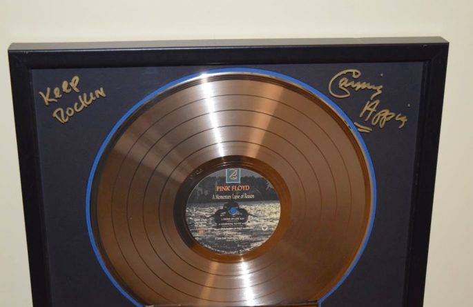 Pink Floyd RIAA Award For A Momentary Lapse Of Reason