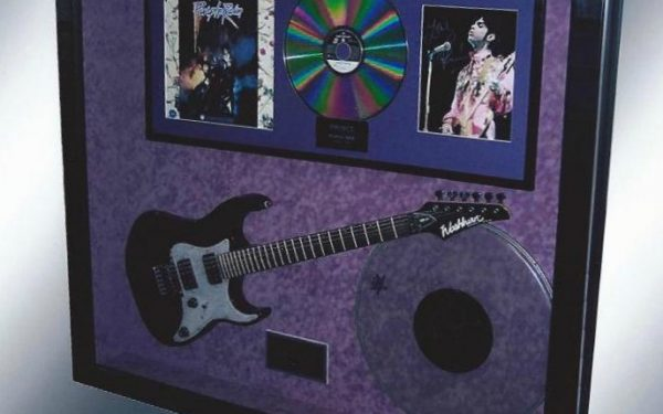 #1 Prince Signed Guitar Display