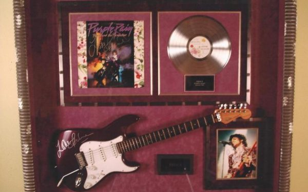 #2 Prince Signed Guitar Display
