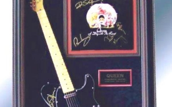 Queen Signed Guitar Display