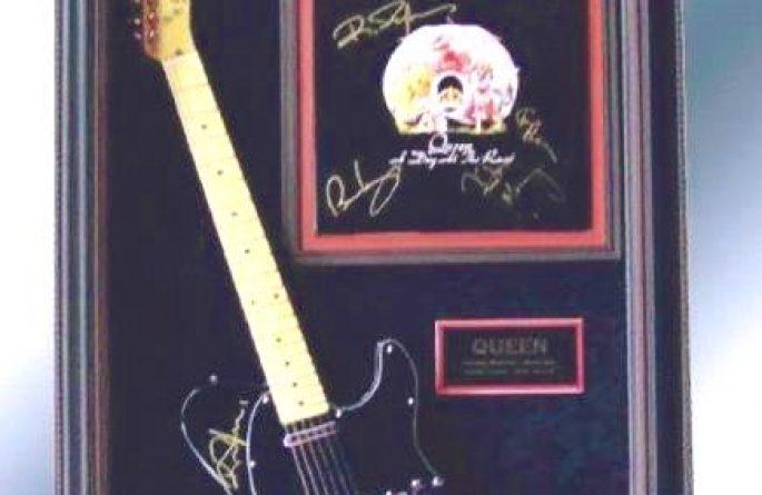 Queen Signed Guitar Display