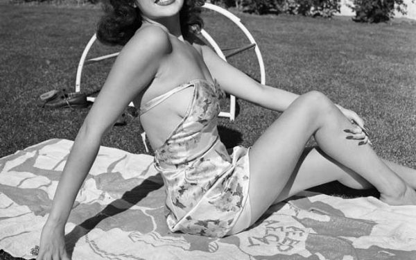 Rita Hayworth Sunbathing