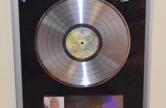 Rod Stewart RIAA Award For Footloose and Fancy Free