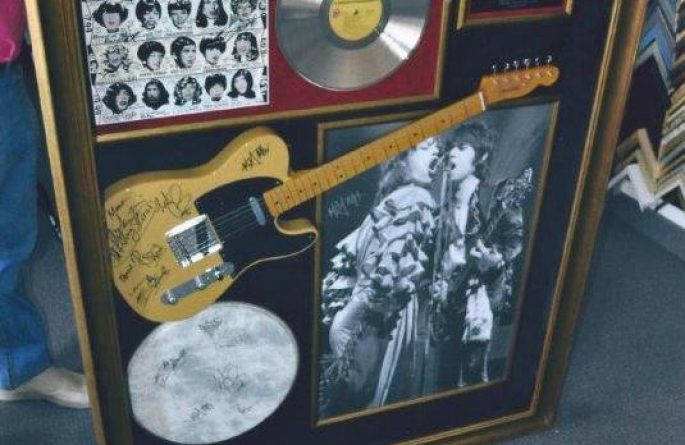 #2 The Rolling Stones Signed Guitar Display