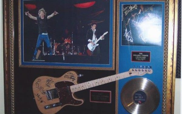 #3 The Rolling Stones Signed Guitar Display