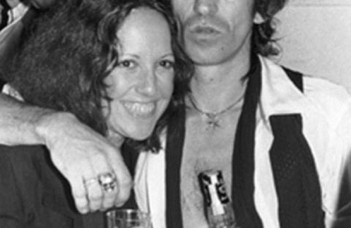Lisa Robinson & Keith Richards NYC, 1980