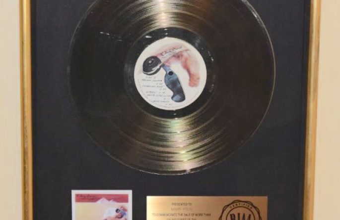 The Rolling Stones RIAA Award For Made In The Shade
