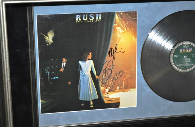 Rush Signed Guitar Display