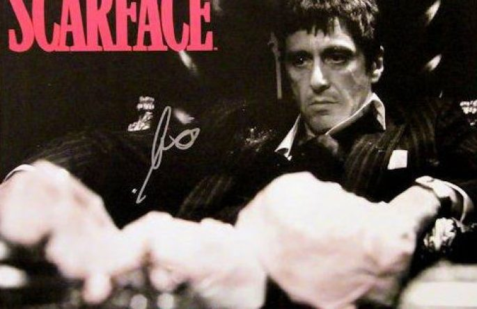 #1 Scarface Signed Movie Poster