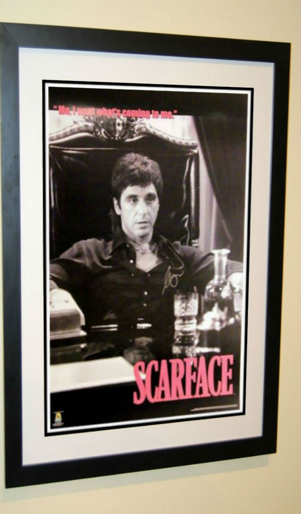 Scarface Signed Movie Poster Al Pacino Rock Star