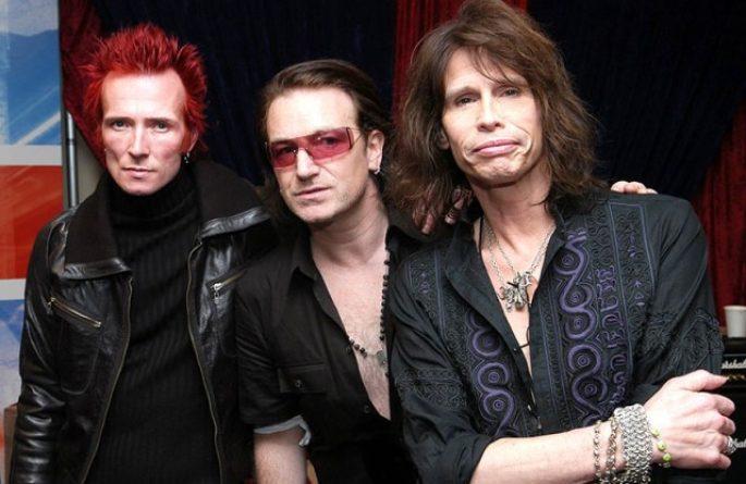 Scott Wyland – Bono – Steven Tyler – Grammys 2005