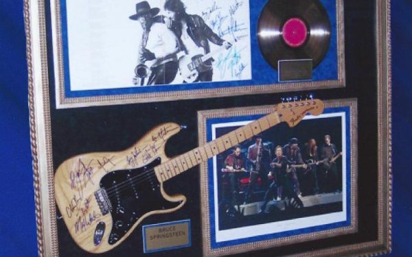#2 Bruce Springsteen Signed Guitar Display