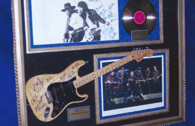 #2 Bruce Springsteen Signed Guitar Display