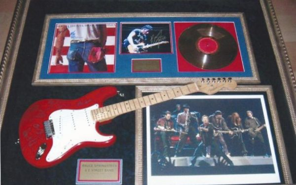 #3 Bruce Springsteen Signed Guitar Display