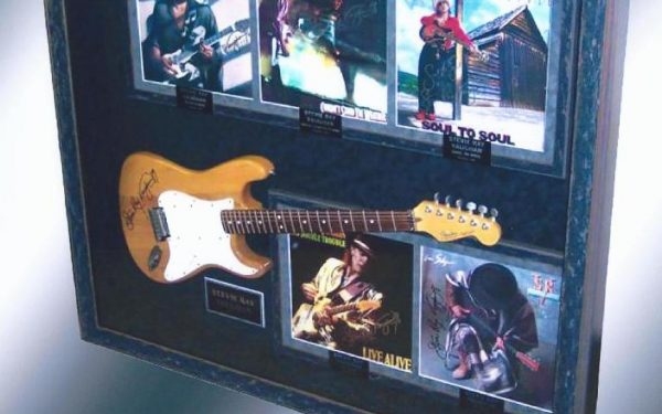 #2 Stevie Ray Vaughan Signed Guitar Display