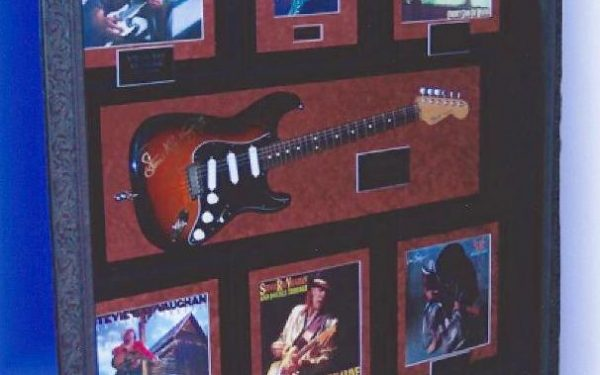 #5 Stevie Ray Vaughan Signed Guitar Display