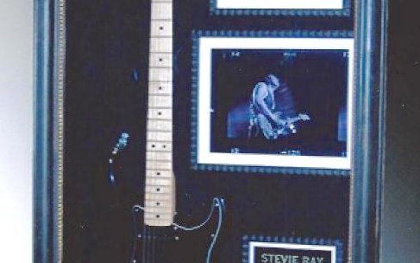 #3 Stevie Ray Vaughan Signed Guitar Display