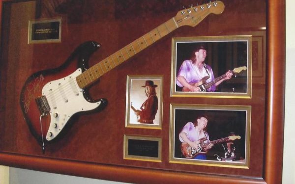 #4 Stevie Ray Vaughan Signed Guitar Display