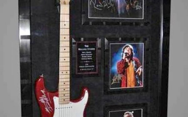 #1 The Rolling Stones Signed Guitar Display