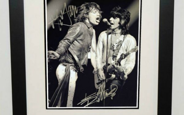 #8-Mick Jagger and Keith Richards Signed 8×10 Photograph