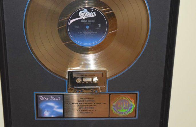 Teena Marie RIAA Award For Star Child