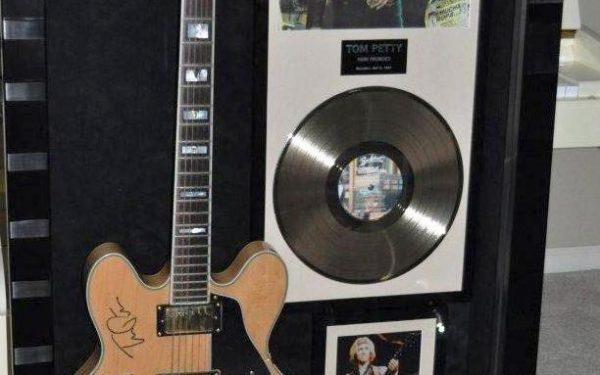 Tom Petty / Traveling Wilburys Signed Guitar Display