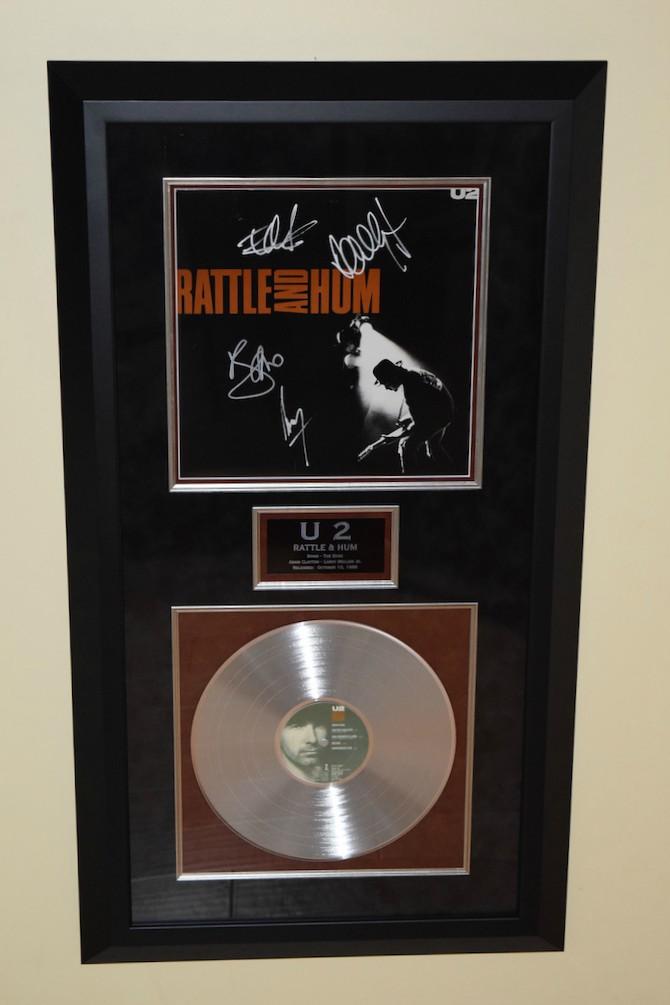 U2 Signed Poster Bono The Edge Adam Clayton Larry