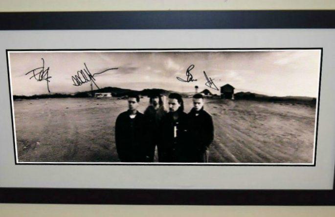 #2 U2 Signed Poster