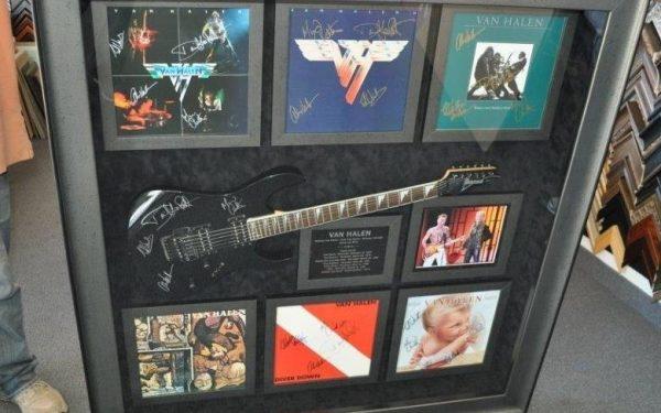 #1 Van Halen Signed Guitar Display