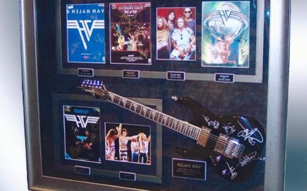 #3 Van Halen Signed Guitar Display