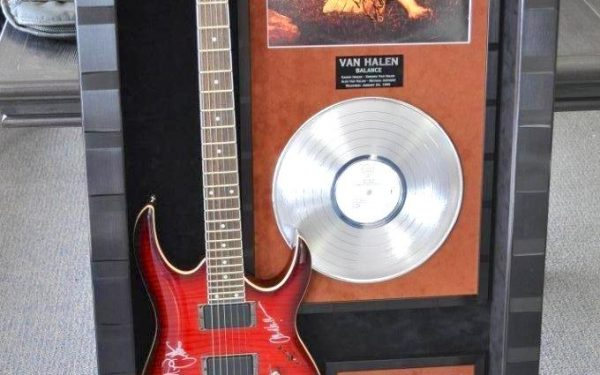 #2 Van Halen Signed Guitar Display